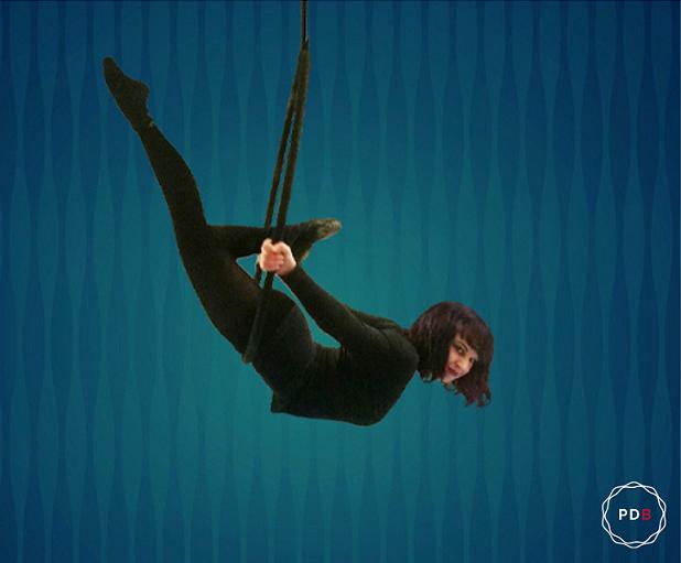 Aerial Hoop im Le Chat Noir